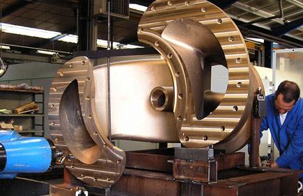 Fonderie bronze sur Fraiseuse grande capacité