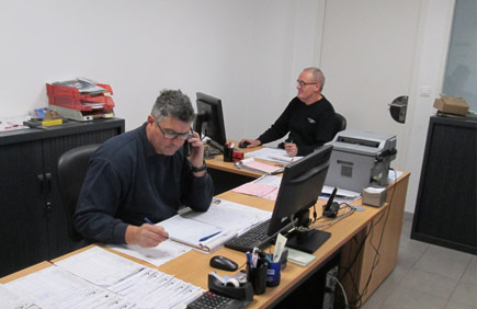 Noël & Jean-Michel, Responsables de l'atelier de rectification moteur